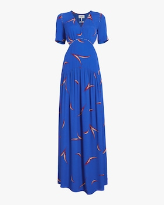 Tiana Printed Cutout Dress