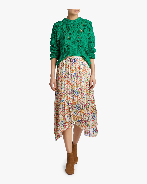 Romeo Floral Satin Midi Skirt