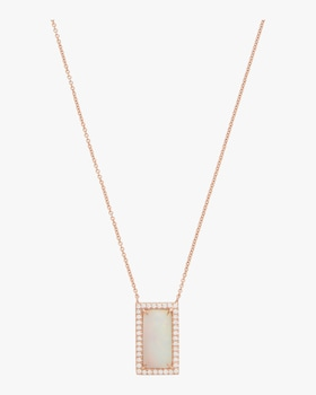 Rectangular Opal Necklace