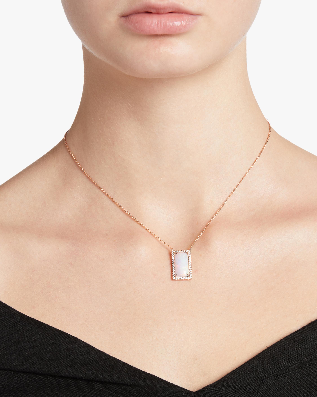 Jane Kaye Rectangular Opal Necklace 1