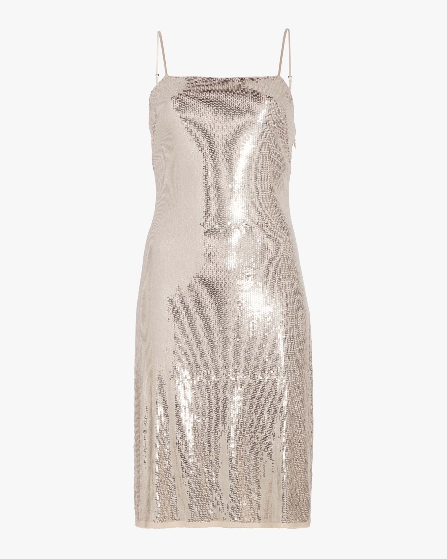 Sequin Spaghetti Strap Dress