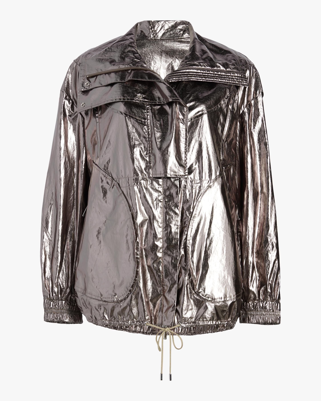 Metallic Foil Drawstring Jacket