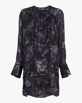 Winter Floral Jacquard Dress