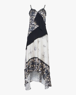 Winter Floral Marble Dress