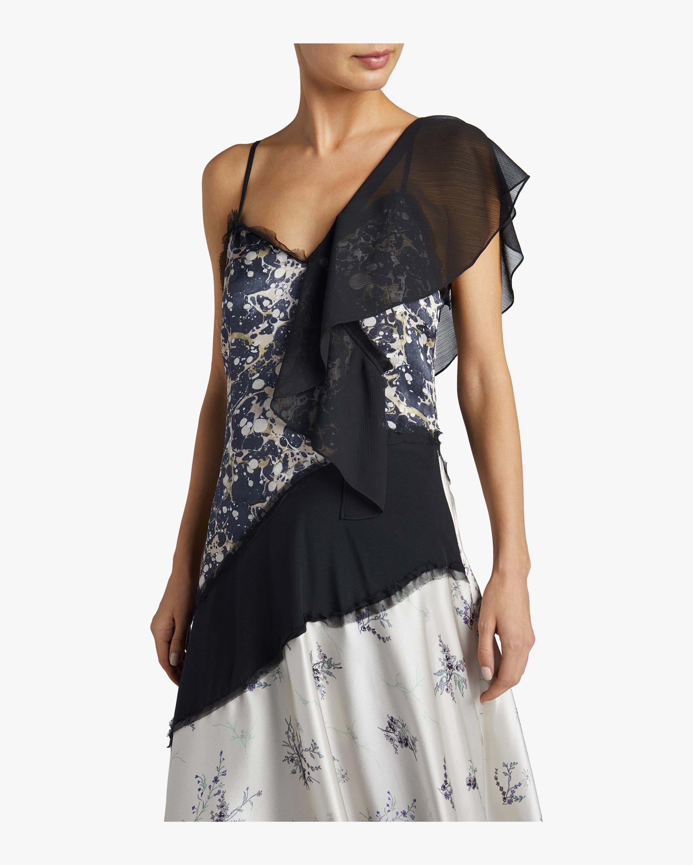 Winter Floral Marble Dress Jason Wu GREY