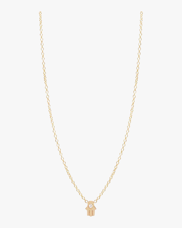 Itty Bitty Vertical Hamsa Necklace