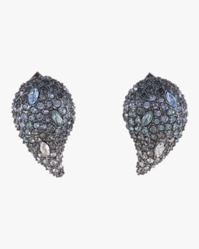 Crystal Paisley Post Earrings