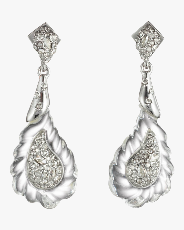 Crystal Paisley Rope Earrings