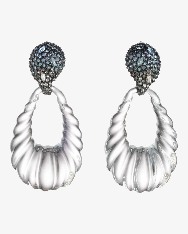 Crystal Paisley Teardrop Earrings