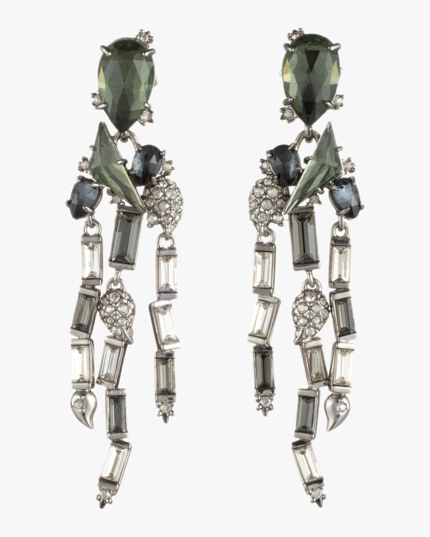 Crystal Cluster Fringe Earrings