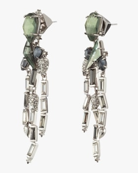 Crystal Cluster Fringe Earrings