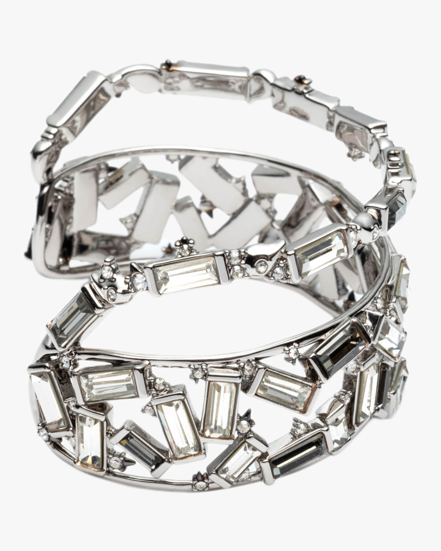 Scattered Crystal Baguette Cuff Bracelet