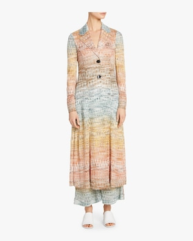Zig Zag Lamé Duster Coat Dress