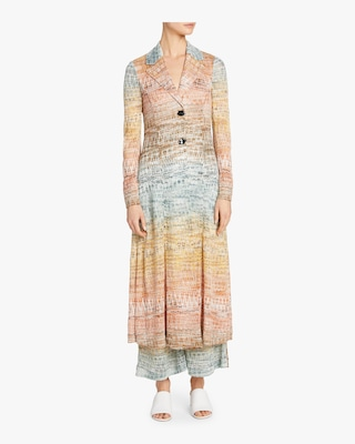 Zig Zag Lamé Duster Coat Dress