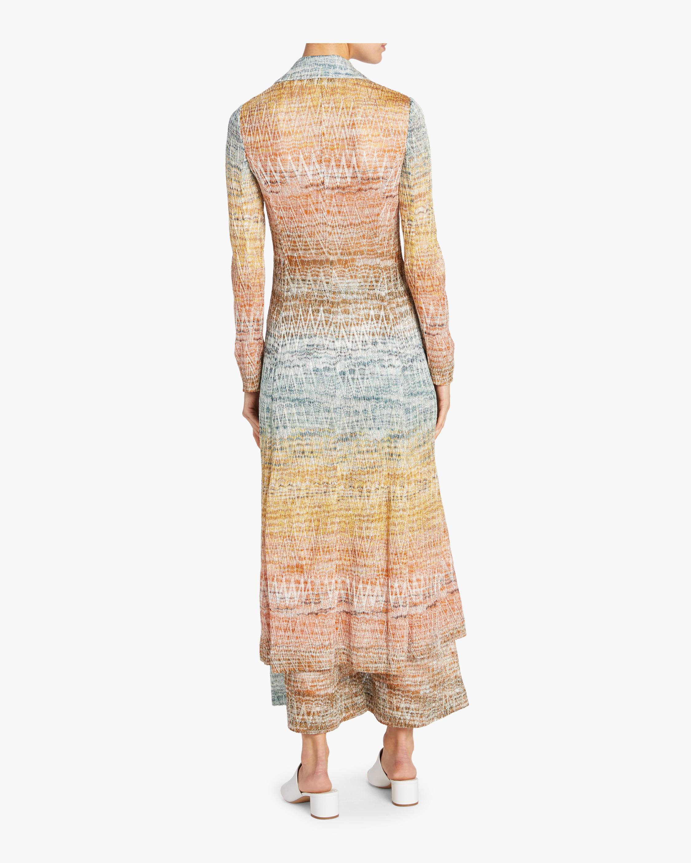 Zig Zag Lamé Duster Coat Dress Missoni