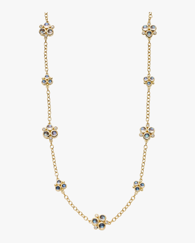 Moonstone and Diamond Trio Necklace