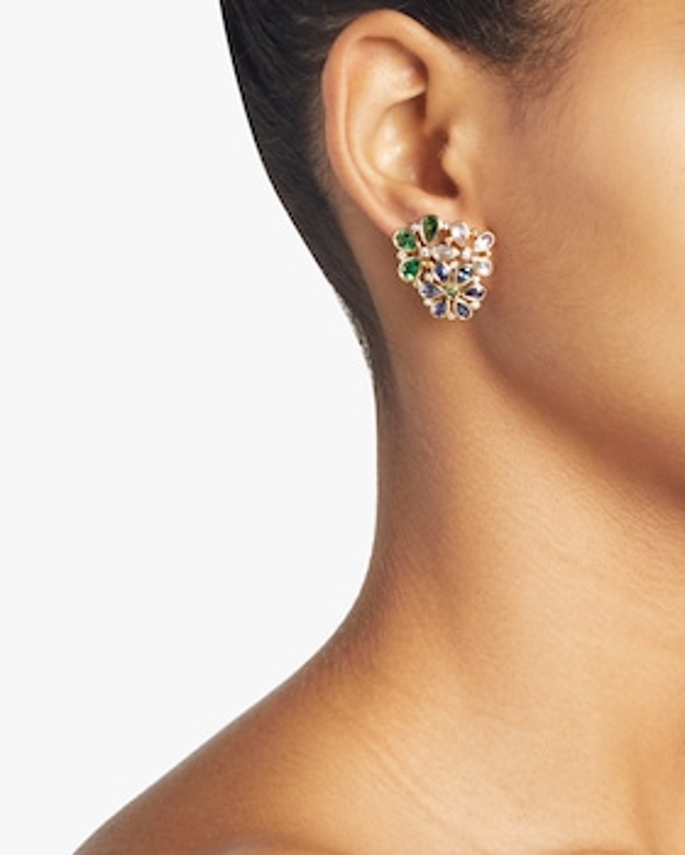 Flower Cluster Mix Earrings