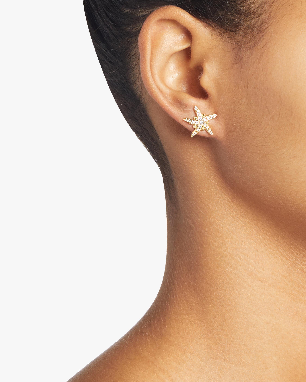 Diamond Pavé Sea Star Earrings