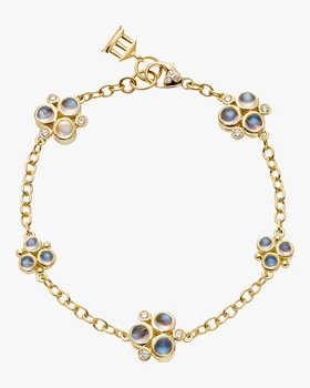 Moonstone and Diamond Trio Bracelet