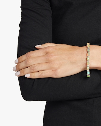 Opal and Diamond Bangle Bracelet