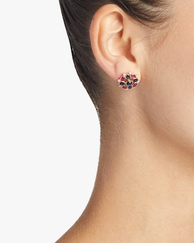 Ruby and Sapphire Earrings