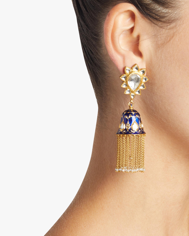 Diamond and Pearl Gold Earrings