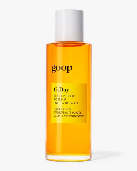 Goop G.Day Black Pepper and Rose Hip Energy Body Oil 90ml 0