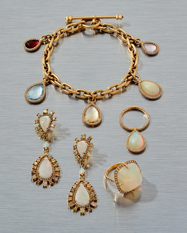 Crystal Opal Drop Earrings