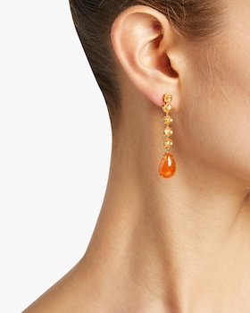 Spessartite Drop Earrings