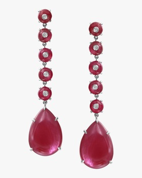 Ruby Drop Earrings