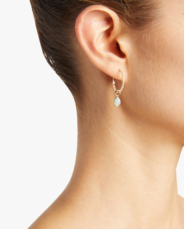 Opal Gold Hoop Earrings