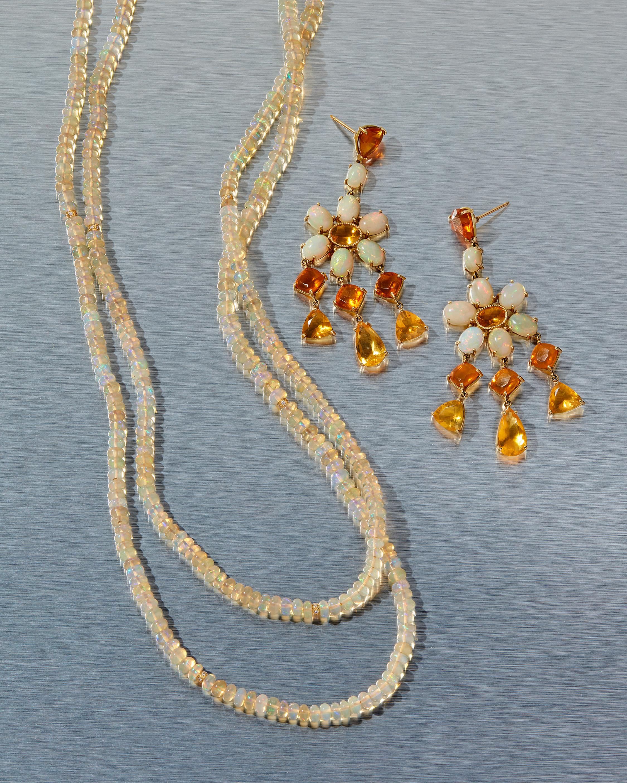 Opal Rondelle Necklace