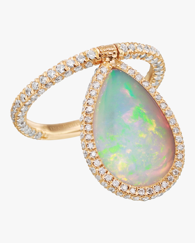 Large Opal Flip Ring
