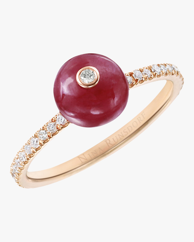 Ruby Bead Ring