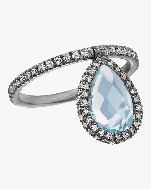 Medium Aqua Flip Ring