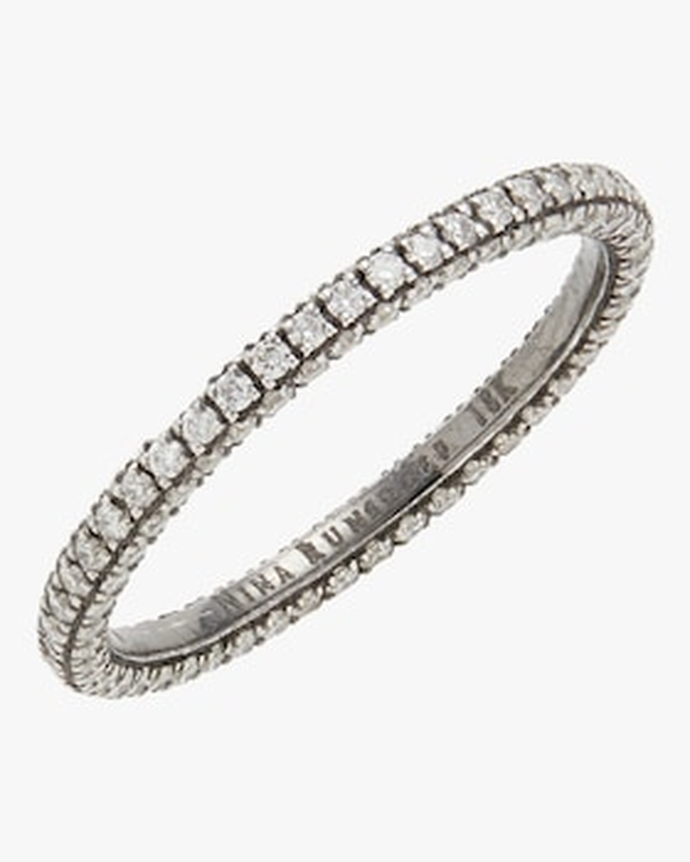 Blackened Gold Diamond Eternity Ring