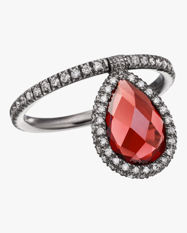 Medium Garnet Flip Ring