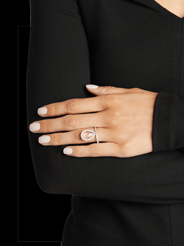 Large Rose Quartz Flip Ring