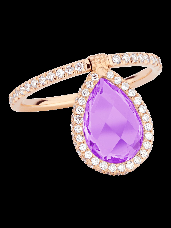 Medium Amethyst Flip Ring