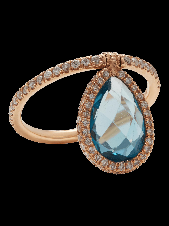 Medium Blue Topaz Flip Ring