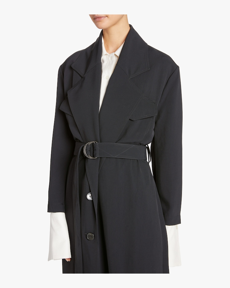 Twill Belted Trench Coat Arias