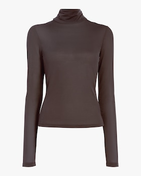 Flared Turtleneck Top