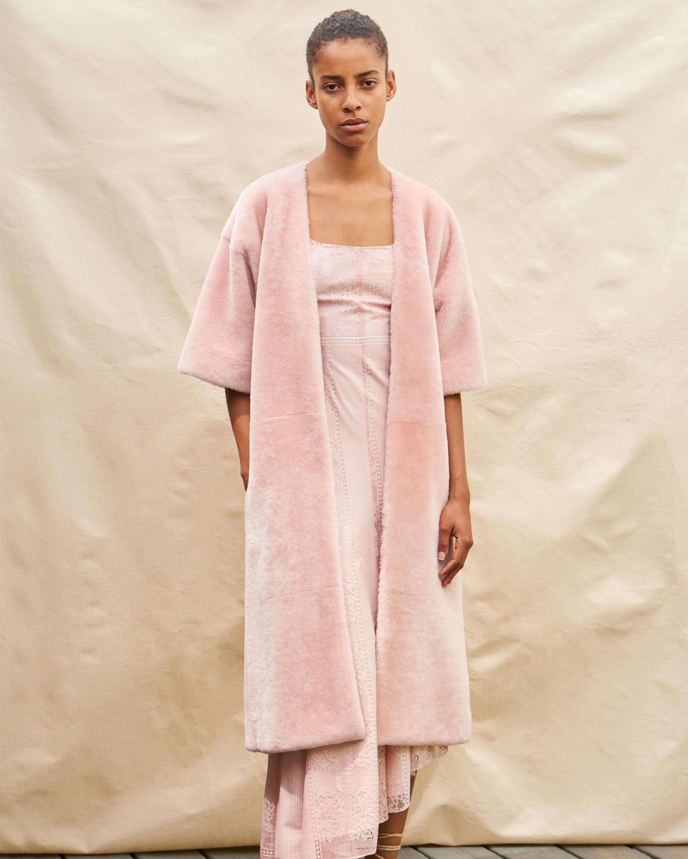 Carmela Reversible Shearling Wrap Coat