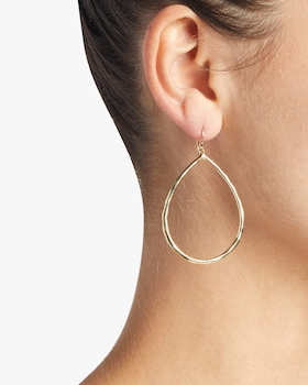 Classico Large Faceted Teardrop Earrings