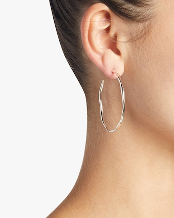 Classico Large Squiggle Hoop Earrings