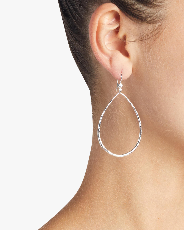 Stardust Diamond Open Teardrop Earrings