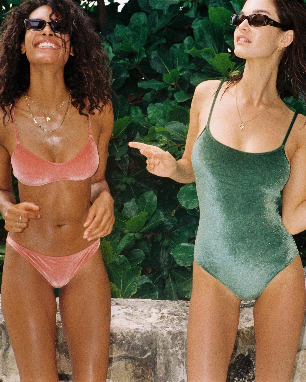 The Nina Velvet One Piece Swimsuit
