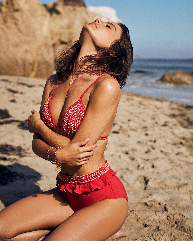 High Waist Ruffle Bikini Bottom