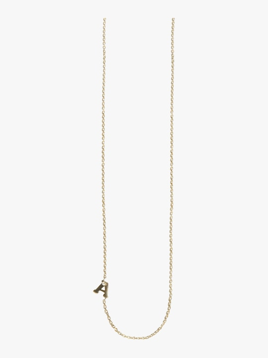 Anzie Love Letter Single Diamond Necklace 0