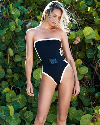 C90 Strapless One Piece Swimsuit